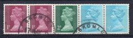 Great Britain - 1971 - Coil Strip - Used - 1952-.... (Elizabeth II)