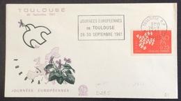 D285 Haute Garonne Toulouse «Journées Européennes Toulouse 26-30/9/1961» Env. Premier Jour Europa 1309 26/9/1961 - Marcophilie (Lettres)