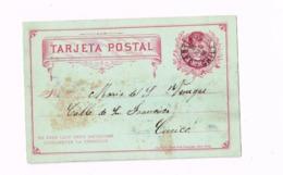 Entier Postal à 2 Centavos.Expédié De Santiago à Curico. - Chili