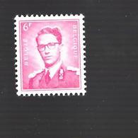 Timbre N°1069 - Roi Baudouin - 6F Carmin De 1958 - Belgique