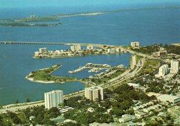 - Aerial View Of Marina Jack, Bird Key And Longboat Key, SARASOTA, FLORIDA - Scan Verso - - Sarasota