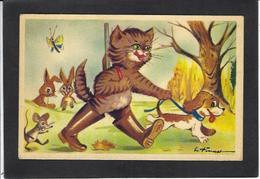 CPA Souris Mouse Chat Cat Non Circulé Chasseur - Chats
