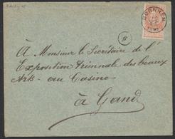 "Fine Barbe - N°57 Sur Lettre Obl Simple Cercle ""Bornhem"" (1895) Vers Gand. TB - 1893-1900 Thin Beard"