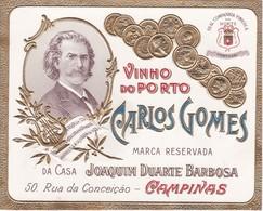 PORTUGAL - OLD Etiquette Label Alcool Wine - VINHO DO PORTO - CARLOS GOMES - CAMPINAS - BRASIL BRAZIL - Etiquettes