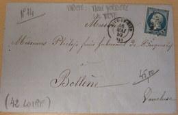 LAC, N°14, Variété (Anneau Derrière La Tête), Rive De Gier (LOIRE) Pour Bollène (VAUCLUSE), 16/05/59 (B42-L6) - Marcophilie (Lettres)