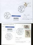 44354 Italia,2 Stationery Circuled (cover+card) Tarif A(priority Mail) Leonardo Da Vinci Drawings Of Duck And Mary Magda - Arte