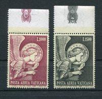 Vaticano - Posta Aerea - 1968 - Angelo Sass. 53/54 ** MNH - Poste Aérienne