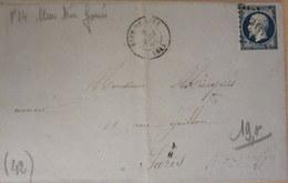 LAC, N°14, Bleu Très Foncé, Rive De Gier (LOIRE) Pour Paris, Forges Et Hauts Fourneaux,  08/04/55 (B42-L6) - Marcophilie (Lettres)