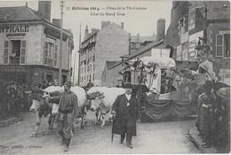 ORLEANS 1914 : Fëte De La Mi-Carême - Le Char De Boeuf Gras . - Orleans