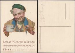 Adolf J.TITZE Kaffee Werbepostkarte Nr. 1, Grossvater. Kaffeewerbung Kuenstlerkarte (Waldheim-Eberle AG WIEN VII) - Austria
