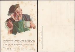 Adolf J.TITZE Kaffee Werbepostkarte Nr. 3, Vater. Kaffeewerbung Kuenstlerkarte (Waldheim-Eberle AG WIEN VII) - Austria