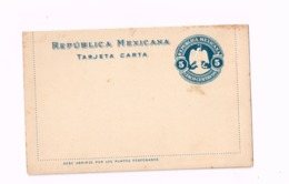Entier Postal à 5 Centavos.Carte-lettre. - Mexique