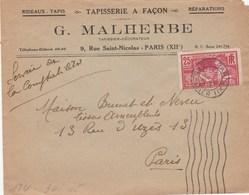 Lettre Aff JO 1924 : Signature Graveur En Haut Du Timbre - 1921-1960: Moderne