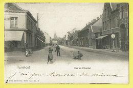 * Turnhout (Antwerpen - Anvers) * (Nels, Série 101, Nr 7) Rue De L'hopital, Char, Animée, Enfants, TOP, Unique - Turnhout