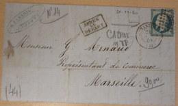 LAC, N°14, APRES LE DEPART, Cachet Sur TP, 21-11-60 (B42-L6) - 1849-1876: Période Classique