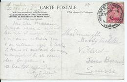 Fantasiekaart Met OCB 138 - Afstempeling LEGERPOSTERIJ 4 Van Z290 Naar Zwitserland - 1915-1920 Albert I
