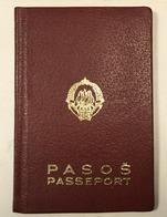 PASSPORT   REISEPASS  PASSAPORTO   PASSEPORT  YUGOSLAVIA 1966. VISA TO: GERMANY - Historische Dokumente
