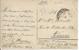 Portvrije Zichtkaart Veen - Afstempeling LEGERPOSTERIJ 5  22.VI.1919 - Guerre 14-18