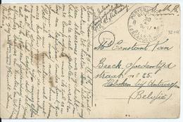 Portvrije Zichtkaart Elsenborn - Afstempeling LEGERPOSTERIJ 8  30.X.19 - Guerre 14-18