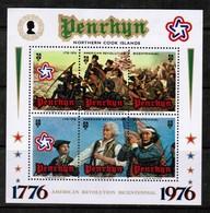 PENRHYN ISLAND  Scott # 80d** VF MINT NH Souvenir Sheet (SS-396) - Penrhyn
