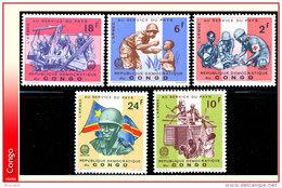 Congo 0633/37** Armee  MNH - Democratische Republiek Congo (1964-71)