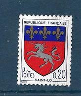 Timbre De Roulette : 0,20 Blason De Saint-Lô Avec N° Rouge 200 – Neuf Sans Charnière - Rollen