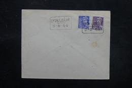 """FRANCE - Cachet """" Lyon Libéré """" Sur Type Mercure Enveloppe De Lyon En 1944 - L 27516 - Liberation"""
