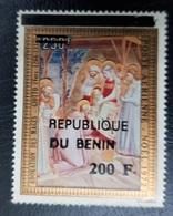 BENIN 1972 CHRISTMAS NOEL 200 F - OVERPRINT SURCHARGE OVERPRINTED SURCHARGED - RARE MNH - Benin - Dahomey (1960-...)
