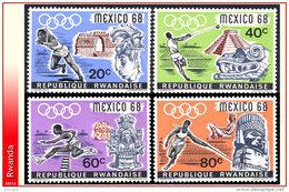 Rwanda 0243/46**  Jeux Olympiques De Mexico  MNH - Rwanda