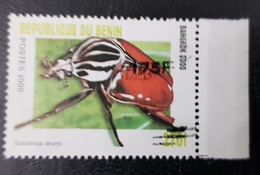 BENIN 2000 INSECTS ERROR SURCHARGED VERSO 175 F - OVERPRINT SURCHARGE OVERPRINTED SURCHARGED - RARE MNH - Benin - Dahomey (1960-...)