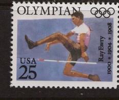 ATHLETICS  HIGH JUMP OLYMPIC CHAMPION RAY EWRY USA 1990 MNH - Athletics