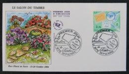 ST PIERRE ET MIQUELON - 1994 - FDC 606 - SALON DU TIMBRE 1994 - PARC FLORAL DE PARIS 1994 - FDC