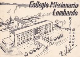 CARTOLINA - BRESCIA - RIVOLTELLA DEL GARDA - COLLEGIO MISSIONARIO LOMBARDO - VIAGGIATA PER CLUSONE ( BERGAMO) - Brescia