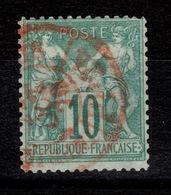Sage Type I - YV 65 Obliteration Rouge Des Imprimes TTB Pas Aminci - 1876-1878 Sage (Type I)