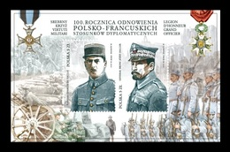 Poland 2019 Mih. 5101/02 (Bl.282) Generals Charles De Gaulle And Jozef Haller (joint Issue Poland-France) MNH ** - 1944-.... Republic