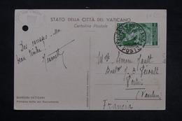 VATICAN - Affranchissement Plaisant Sur Carte Postale Du Vatican Pour La France En 1935 - L 27532 - Lettres & Documents