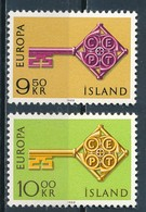 °°° ISLAND - Y&T N°372/73 - 1968 MNH °°° - 1944-... Republique