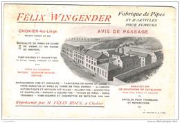 Chokier-lez-Liège - Fabrique De Pipes Et D'articles Pour Fumeurs - 2 Scans - Advertising