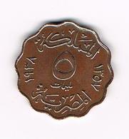 //  EGYPTE  5  MILLIEMES   1938 - Egitto