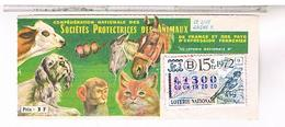 Billets De Loterie 1/10°    SPA  PINSON  1972 ........  LOTE22 - Billets De Loterie