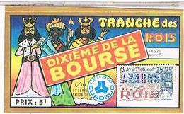 Billets De Loterie 1/10° ROI BOURSE 1973 ........  LOTE24 - Billets De Loterie