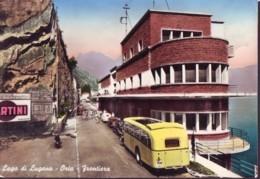 Corriera Gialla Con Targa Svizzera A Oria Anni '50 - Autobus & Pullman
