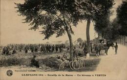 Campagne 1914 - Bataille De La Marne - Un Bivouac à VERTUS - Guerre 1914-18