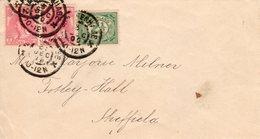 31 DEC 00 Envelop Van 's-Gravenhage Naar Sheffield Met 2x NVPH63 + NVPH55 - Periode 1891-1948 (Wilhelmina)