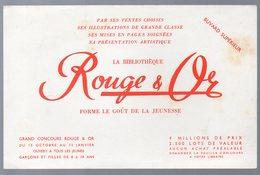 Buvard ROUGE ET OR Bibliothèque  (PPP10521) - Papel Secante