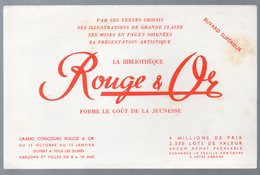 Buvard ROUGE ET OR Bibliothèque  (PPP10521) - Carte Assorbenti