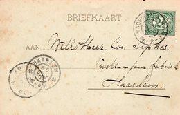 29 DEC 02 Briefkaart Van Wageningen Naar Haarlem - Periode 1891-1948 (Wilhelmina)
