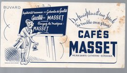 Buvard CAFE MASSET (Bordeaux)   (PPP10522) - Coffee & Tea