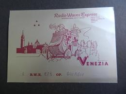 19917) RADIOAMATORE VENETO VENEZIA RADIO WAWES EXPRESS CARTOLINA CON CODICI - Radio & TSF