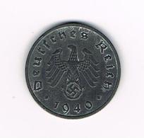 //  THIRD  REICH  10 REICHSPFENNIG  1940 F - 1 Reichspfennig